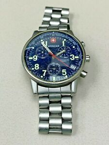 Wenger Blue Dial Steel Band  Mens Watch 7072X Parts #374