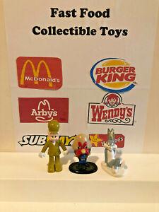1980's Arbys Looney Tunes 3 Figures ELMER, TAZ and BUGS