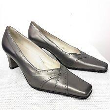 Geneva Equity Shoes Wedge Slip On Silver Size UK 6 /EU39