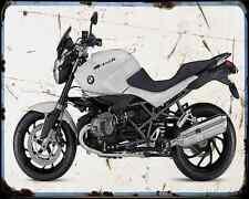 Bmw R 1200R Darkwhite Special Edition A4 Metal Sign Motorbike Vintage Aged