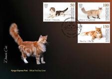 KYRGYZSTAN (KEP) / 2019 - (FDC1) Domestic Cats (Scottish fold), MNH