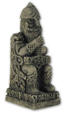 Thor Statue Norse Viking God on Throne Stone Look by Dryad Design #105THS