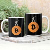 Bitcoin to the moon Astronaut Funny Crypto 11Oz 15Oz Gift Coffee Tea Mug