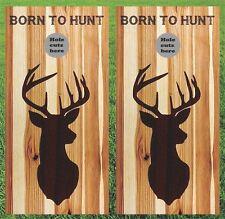 Hunting Cornhole Wrap Set - Wood Burn Look - Fast Shipping!!