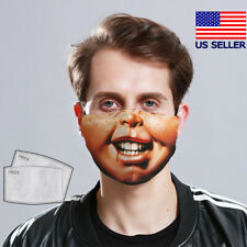 CHUCKY HORROR MOVIE KNIFE Face Mask Reusable Washable (with Filter)