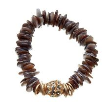 crystals - Jala by Bello London Stretch Bracelet with grey agate and clear