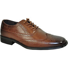 BRAVO New Men Dress Shoe MILANO-1 Classic Oxford Wingtip with Leather Lining