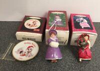2 Vintage HALLMARK Keepsake Christmas Ornaments LOT Plus 1 Plate