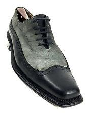 Ron White Italy Men's Black  Grey Dress Oxford Size US.9 UK.8.5  EUR.42