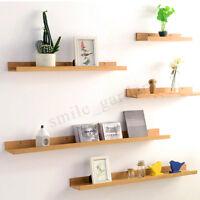 Bambus Retro Wandregal Wandboard Hängeregal Bücherregal Holz Regal Regalboden DE