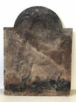 Plaque de Cheminée Empire XIXeme Cheval Palmier Napoléon Chenets Retour d Egypte