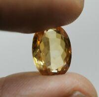5.0 Ct Natural citrine /sunela VVS Clarity Rare Loose Gemstone  usa seller