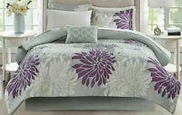 King Size Madison Park Essentials Arlene Reversible 9 Pc Comforter Set Purple