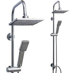 Regendusche Set Duschsäule Duschpaneel Brause Handbrause Regen Kopfbrauseset