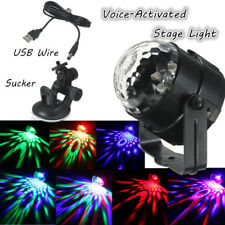 USB Voice Remote Control Rotating LED Stage Light Gala Party Lamp Christmas us