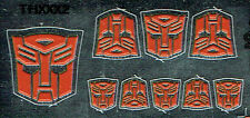 TRANSFORMERS GENERATION 1, G1 AUTOBOT PARTS 3D EMBOSSED LABELS / STICKER