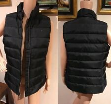 New ❤️❤️❤️ Tommy Hilfiger Women Black Size M 10 12 Down/Feather Vest Jacket $199