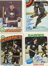 Sabres Don Luce signed 1976 -77 Topps card