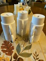 Crate & Barrel Holiday Green White Collectible Stacking Coffee Cups Mugs Set 6