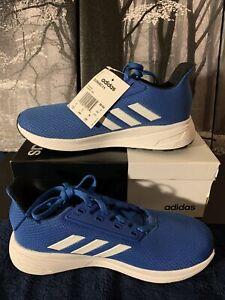 Adidas Boys Kids Duramo 9 Running Shoe Blue/White  Big Kids 5.5 D NEW