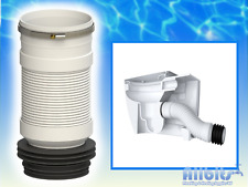 WC FLEXIBLE CONNECTOR TOILET WASTE BACK TO WALL BTW PAN & HOSE CLIP PP0002/E