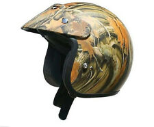 AFX FX-75 Open Face DOT Round / Oval Motorcycle Helmet Camo, DOT, Size: LG