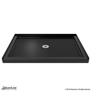 Single Threshold Shower Base 36 x 42. Center drain. Black