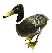Mallard Duck Metal Outdoor Garden Ornament Sculpture Decoration Statue