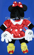 NEW! BUILD-A-BEAR DISNEY MINNIE MOUSE TEDDY COSTUME DRESS, EARS, SHOES OUTFIT
