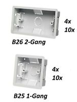 10x Dry Lining Back Box Flush Wall 1 or 2 Gang Electrical Socket Switch B25 B26