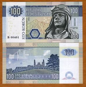 Czechoslovakia, 100 Korun, 2018, Private issue, Specimen, Biplane