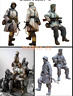1:35 resin figure garage kit WW II German armored soldiers 2 man E1 model kit