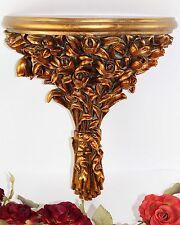 Wandkonsole Barock gold Hängekonsole Wandregal Konsole Antik Tulpen Blumen