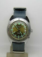 """montre de plongée automatique """"PIROFA"""" mouvement FE 3611 vintage 1970"""