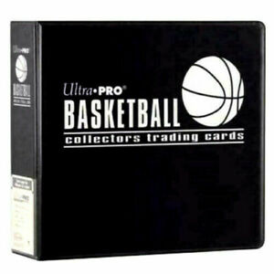 Ultra Pro 3 Ring Basketball Collectors Trading Card Album Binder Folder - BLACK