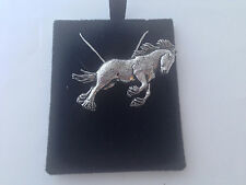silver Necklace Handmade 18 inch chain A37 Shire Horse on a 925 sterling