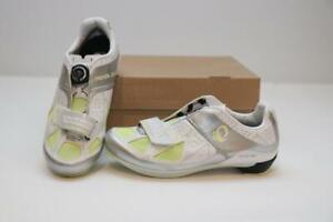 New Pearl Izumi Road Race III Bike Shoes 37 6 Cycling White Silver BOA Women's