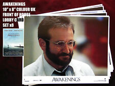 "RARE VINTAGE 10""x8""UK FOH LOBBY CARD STILL SET(x8) - AWAKENINGS - ROBIN WILLIAMS"