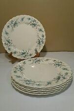 6 Vintage Myott StaffordShire England Forget Me Not Blue Flowers Dinner Plate