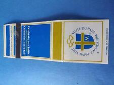 CANADA POPE PAPAL VISIT 1984 CELEBRATE OUR FAITH VINTAGE MATCHBOOK SOUVENIR
