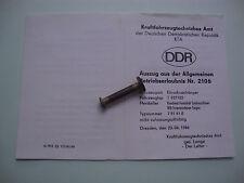 DDR Fortschritt LPG KTA KFZ Brief Betriebserlaubnis  Anhänger T937/02  Nr. 2106