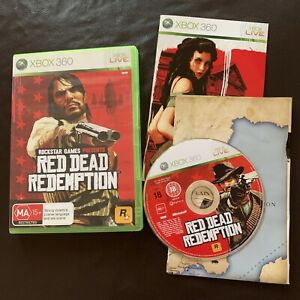 Red Dead Redemption - Microsoft Xbox 360 PAL, 2010 With Manual And Map