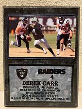 Derek Carr 6x8 Raiders Plaque