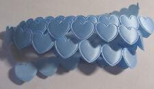 1 metre of BLUE Heart Shaped Braid / Ribbon - each heart is 16mm wide & deep