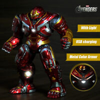 8'' Avengers Armor Iron Man Hulkbuster 2.0 Action Figure LED Mark44 Statue Toy