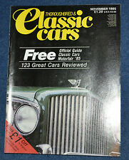 Thoroughbred & Classic Cars November 1985 guide to Classic Cars @ MotorFair 1985