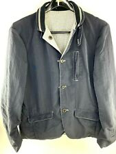 Armani Exchange Reversible Sport Coat Jacket Blue / Plaid Mens Large