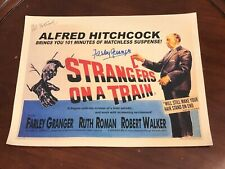 Farley Granger Pat Hitchcock Strangers On A Train Signed Autograph 11x14 Photo