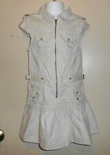The Childrens Place Girls Cap Sleeve Front Zip Cargo Dress Stone Six (6) NWT