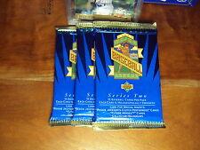 (3-Pack LOT) 1993 Upper Deck Baseball Wax Packs SERIES TWO 2 Derek Jeter RC #449
